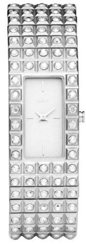 DKNY Crystals Expansion Bracelet Silver Dial Women's watch #NY8243 DKNY. $100.90. Rectangle Stainless Steel Case. Analogue Display. Steel Bracelet Strap. Water Resistance : 3 ATM / 30 meters / 100 feet