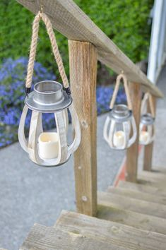 Ready, Set, Summer — Outdoor Entertaining Ideas - Wood and metal farmhouse lanterns, battery operated. Outdoor Curtains, Outdoor Rooms, Indoor Outdoor, Outdoor Living, Outdoor Gardens, Backyard Projects, Outdoor Projects, Garden Projects, Backyard Ideas