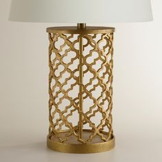 Distressed Gold Moroccan Table Lamp Base | World Market