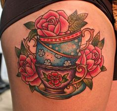 Pretty teacups and roses tattoo =]