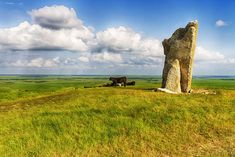 Photos of Kansas ~ Teter Rock near the ghost town of Teterville in the Flint Hills of Kansas