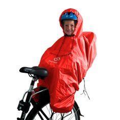 Hamax Rain poncho fits around the child bike seat and keeps the child dry