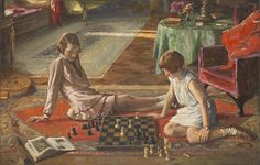 Sir John Lavery,  'The Chess Players' 1929, Tate collection