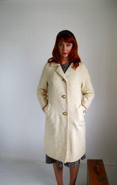 Vintage 1950s Cream Coat