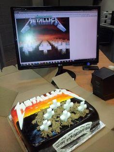 Metallica Cake - Master of Puppets Album cover