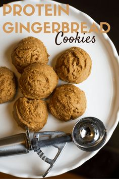 Gingerbread Protein Cookies - sub with essential oils and gluten free flour for healthier holiday cookie gift idea!