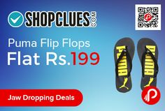 Shopclues #JawDroppingDeals is offering #Puma #FlipFlops at Flat Rs.199 Only.   #paisabachaoabhiyaan  http://www.paisebachaoindia.com/puma-flip-flops-at-flat-rs-199-only-shopclues/
