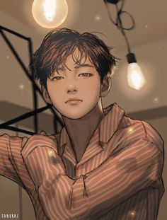 I dont know why but this Taehyung fanart looks like Jisung of Vkook Fanart, Fanart Bts, Taehyung Fanart, Bts Taehyung, Bts Anime, Anime Boys, Anime Lindo, Bts Drawings, Bts Fans