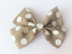 Single double bow with spots