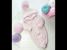 Knitting For Kids, Crochet For Kids, Sewing For Kids, Baby Knitting, Knit Baby Dress, Crochet Baby Clothes, Russian Crochet, Knit Crochet, Knitting Designs