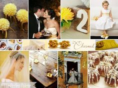 {Autumn Love}: A Palette of Yellow, Gold, Latte & Ivory