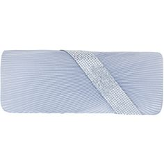 JOYCE - Asymmetrical Diamante Ruched Satin Clutch (€30) ❤ liked on Polyvore featuring bags, handbags, clutches, silver, special occasion handbags, satin handbags, blue purse, cocktail purse and blue handbags