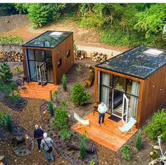 Top 20 Shipping Container Home Designs - Ask Love Tiny House Cabin, Tiny House Living, Tiny House Design, Tiny Cabins, Tiny House Village, Prefab Tiny Houses, Small Prefab Homes, Tiny Guest House, Prefab Cabins