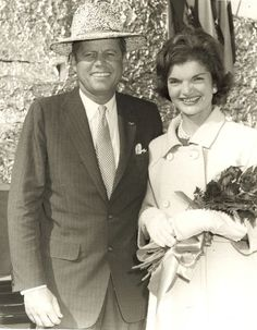 JFK in Rice Hat, with Jackie - Crowley Rice Festival, 1959  In October 1959, aspiring presidential candidate Senator John F. Kennedy and his wife Jackie were guests at the International Rice Festival in Crowley, Louisiana. They were hosted by Judge and Mrs Edmund M. Reggie.   Photo archive of Kennedy visit  (Photos property of the Edmund Reggie family)