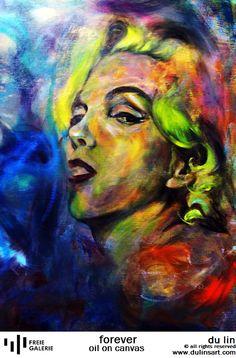 Du Lin, forever, oil on canvas;