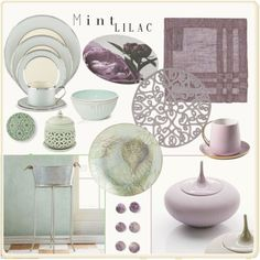 Dining in Lilac & Mint ... by lutgard-m on Polyvore featuring polyvore, interior, interiors, interior design, home, home decor, interior decorating, Claudia Szerer, Lenox and Pier 1 Imports