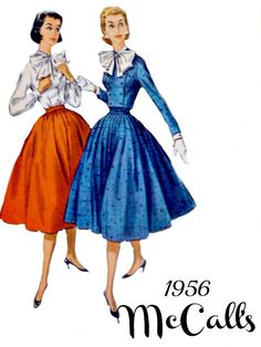McCalls 3829 Pattern 1950s Full Skirt with by VintageNeedleFinds, $12.00