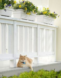 Lowes tutorial. How to build a wooden rail for your front porch.