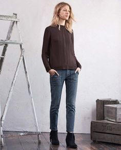 Image of Brett straight crop jeans -  #MyWrapFavourites #WrapLondon