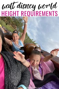 Have you ever wondered about Walt Disney World height requirements? We've taken the guesswork out for you and they're sorted by park! Disney World Theme Parks, Disney World Planning, Walt Disney World, Disney Vacation Club, Disney Travel, Disney Cruise, Disney World Tips And Tricks, Disney Tips, Disney Magic