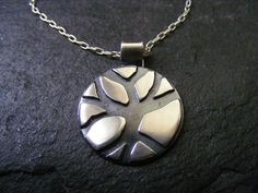 Silver Tree Pendant Silver Branch Necklace by dAgDesigns on Etsy