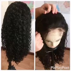 Wholesale Tight curly full lace Wig human hair bleached knots,brazilian lace wig with baby hair Curly Full Lace Wig, Layered Curly Hair, 100 Human Hair Wigs, Bleached Hair, Wigs For Black Women, Lace Front Wigs, Bob Hairstyles, Curly Hair Styles, Knots