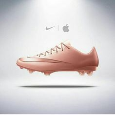 Apple rose gold cleats give me these Girls Soccer Cleats, Nike Cleats, Soccer Gear, Soccer Boots, Soccer Equipment, Football Shoes, Play Soccer, Football Cleats, Soccer Ball