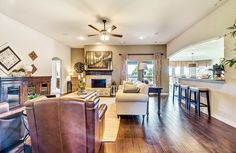 What a great space, very open family room & kitchen area! ^KL
