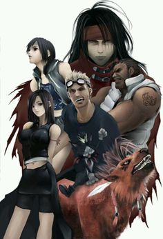 Final Fantasy 7 | I like this artwork because it's the characters besides Cloud & Aerith (who usually overshadow the rest).