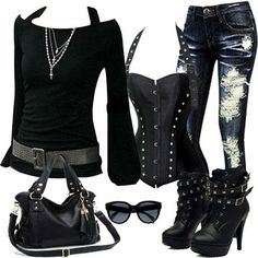 Love the shirt with the belt, the bag, and most definitely the jeans...the boots get a maybe!