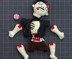 Sharpen your survival skills for the apocalypse by practicing your moves on the dismembering limbs plush zombie. This quirky zombie can't seem to catch a break - apart from being infected, he also has to deal with having his Velcro limbs constantly torn off.
