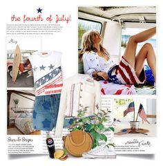 """""""The Fourth Of July"""" by thewondersoffashion ❤ liked on Polyvore featuring Pottery Barn, Hilfiger Collection, Yves Saint Laurent, Thom Browne, PLANT, Chloé and Converse"""