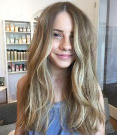 Natural balayage + beachy waves. Hair by SALON by milk + honey stylist, Tanya. #blonde #balayage #highlights #longhair #beachywaves #waves