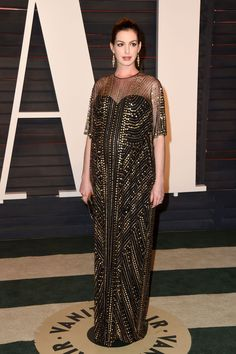 Anne Hathaway at the Vanity Fair After Party 2016 [Photo: Tyler Boye]