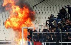 European soccer fans left bloodied after violent rivals throw petrol bombs and flares into the stands European Soccer, Soccer Fans, New Tricks, Athens, Community, Paste, March 4, Mai, Content