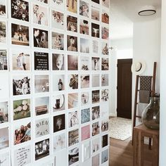 decorated this amazing photo wall using Square Prints of her close family and friends! 💛Give your walls some love with a FREE set of 25 Squares - just pay shipping ➝ link in bio. Photo Wall Decor, Photo Wall Collage, Picture Wall, Ideas For Room Decoration, Photowall Ideas, Polaroid Wall, Polaroids, Photo Deco, Instagram Prints