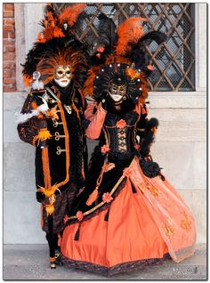 Shots For Passion - Photography: Venice, Carnival 2011: The black and orange masks - Magnificent!