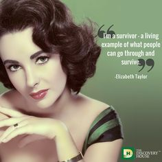 #ElizabethTaylor was one of the first to open up about her addiction, which inspired others to openly seek help too. Call today for help: 877.937.0846.