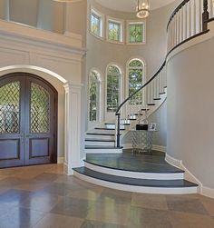 Top 80 besten Foyer Ideen – einzigartige Home Entryway Designs – 2019 - House ideas Dream House Interior, Luxury Homes Dream Houses, Dream Home Design, My Dream Home, Home Interior Design, Luxury Interior, Interior Stairs, Dream Homes, Mansion Interior