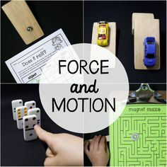 Studying force and motion?! These six science experiments and colorful posters area must! The easy to follow directions and printable record sheets make the activitiesperfect to use as science centers, STEM projectsor whole class lessons. Inside You'll Find --> 10 colorful posters  --> Does it Roll?  --> Racing Ramps  --> Push or Pull  --> Fast or Slow?  --> Domino Bowling  --> Is it Magnetic?  --> Magnet Mazes  The setis a great compliment to our States of Matter Activity Pack!  NOTE…