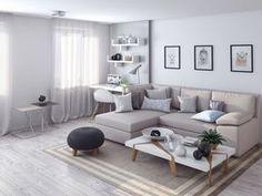 гостиная в однокомнатной квартире-студии