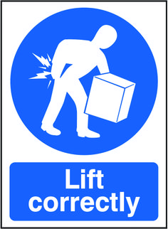 Lift correctly sign.  Beaverswood - Identification Solutions