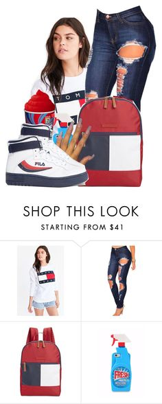 """#53: Tommy Tommy"" by chilly-gvbx ❤ liked on Polyvore featuring Tommy Hilfiger, Moschino and Fila"
