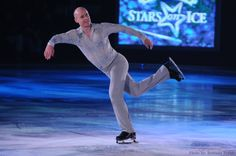 Four-time World Champion Kurt Browning smiles during one of his solo performances at the 2011 Smuckers Stars on Ice figure skating tour. Photo taken on April 9, 2011, at the Webster Bank Arena in Bridgeport, Conn.