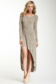 Long Sleeve Keyhole Hi-Lo Dress by Romeo & Juliet Couture on @HauteLook