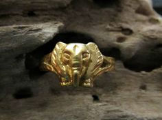 Do you appreciate fine jewelry, you will love this Asian piece, 24k Solid Gold Elephant Ring EverythingIOwn http://etsy.me/15WByVK @Etsy