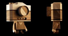 Wooden bots & characters by Loulou and Tummie , via Behance