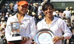 Li Na on the left- First Asian Grand Slam Champion