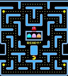 80s Arcade Game - Pac Man And when there was a Ms Pac Man which was faster when you held the button down :)