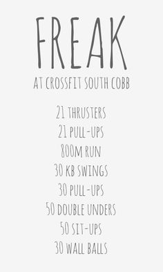 FREAK wod at crossfit south cobb for 50 states in a year